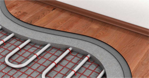 pavimento in legno riscaldato
